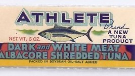 Can label Athlete Brand Tuna Chinook WA Chromolitho - $4.74