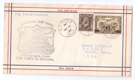 Canada 1933 FFC Big River to Beauval Airmail First Flight Cover - $4.74