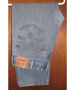 Men's Levis 505 Straight Fit Blue Jeans Size 38x30 (40.5x30) - $21.99