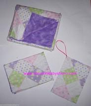 Rag Quilt Baby Pacifier Blanket Burp Cloths Pink Purple Flannel Handmade New - $39.95