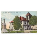 Chester NH Soldiers Monument Town Hall Civil War 1915 Vintage Postcard - $11.40