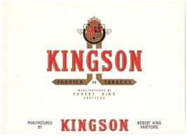 Cigar Box Label Kingson Embossed Gold Inner Rob... - $9.45