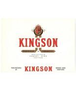 Cigar Box Label Kingson Embossed Gold Inner Robert King Hartford - $9.45