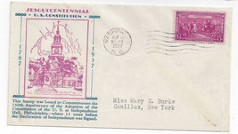 Constitution Sesquicentennial 2nd Day of Issue Cover 1937 Sc 798 Kapner ... - $6.64