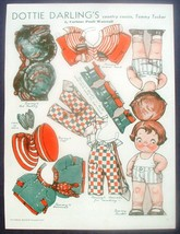 Dottie Darling Country Cousin Tommy Tucker Pictorial Review Paper Doll C... - $11.35
