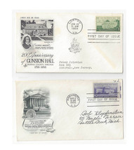 FDC Lot of 2 Sc# 991 1108 Supreme Court Gunston Hall Art Craft Artmaster... - $4.99