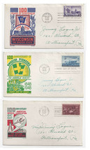 FDC Lot of 3 Sc# 949 957 958 Ken Boll Cachet First Day Covers Doctors Wi... - $9.30