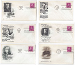 FDC Sc 988 Samuel Gompers 6 Different Cachet First Day Covers - $8.54