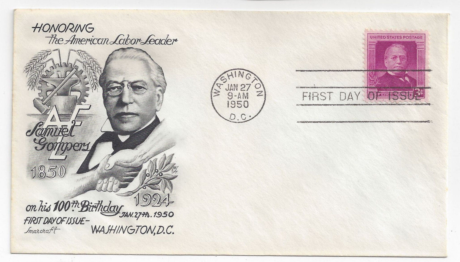 FDC Sc 988 Samuel Gompers 6 Different Cachet First Day Covers