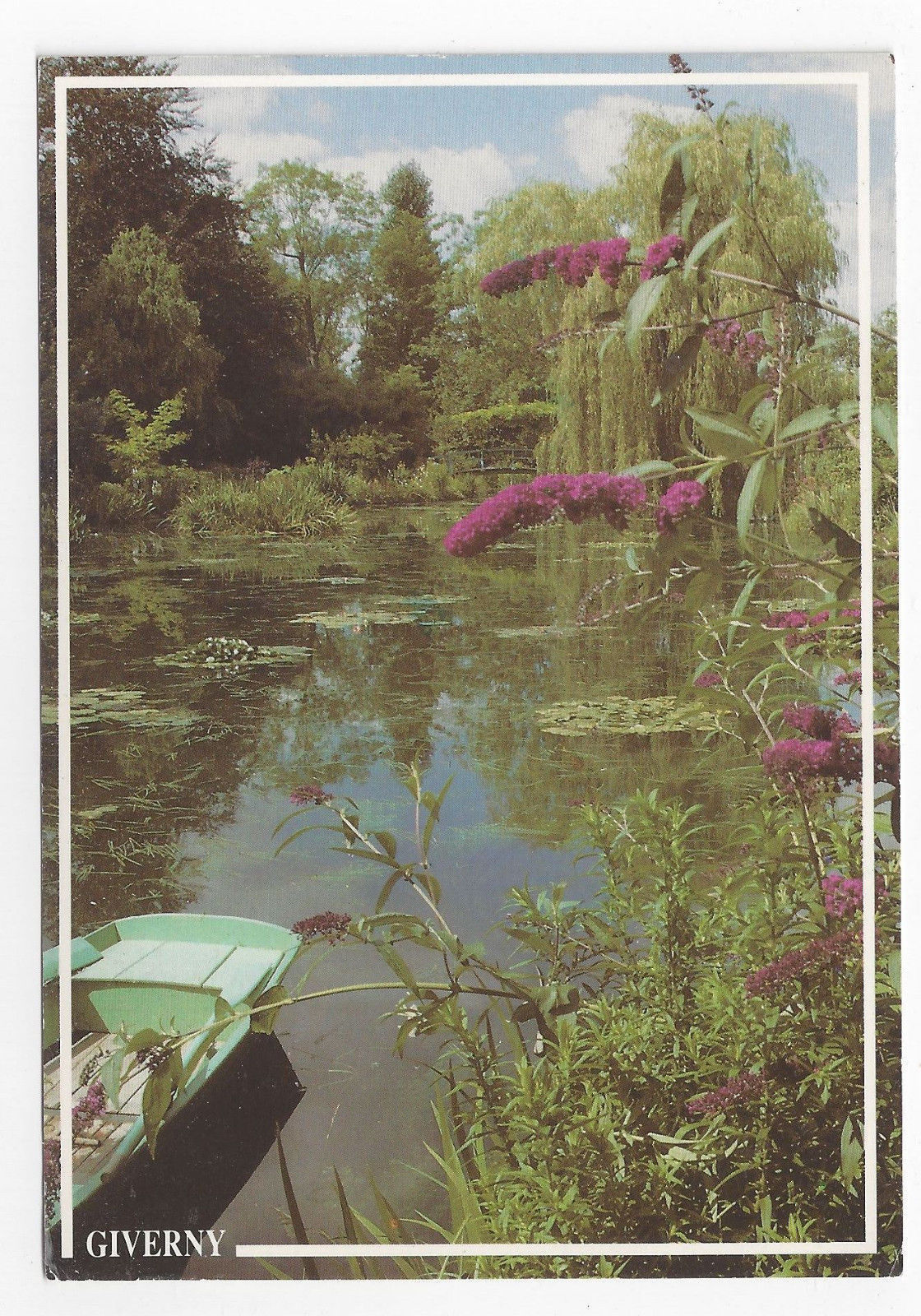 France Giverny Musee Claude Monet View Water Gardens 1993 Postcard 4X6