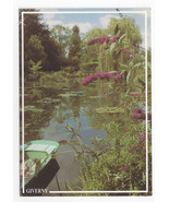 France Giverny Musee Claude Monet View Water Gardens 1993 Postcard 4X6 - $6.36