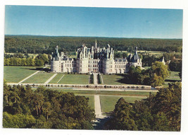 France Chateau de Chambord Palace Castle Loire Vtg Chrome Postcard 4X6 - $6.36