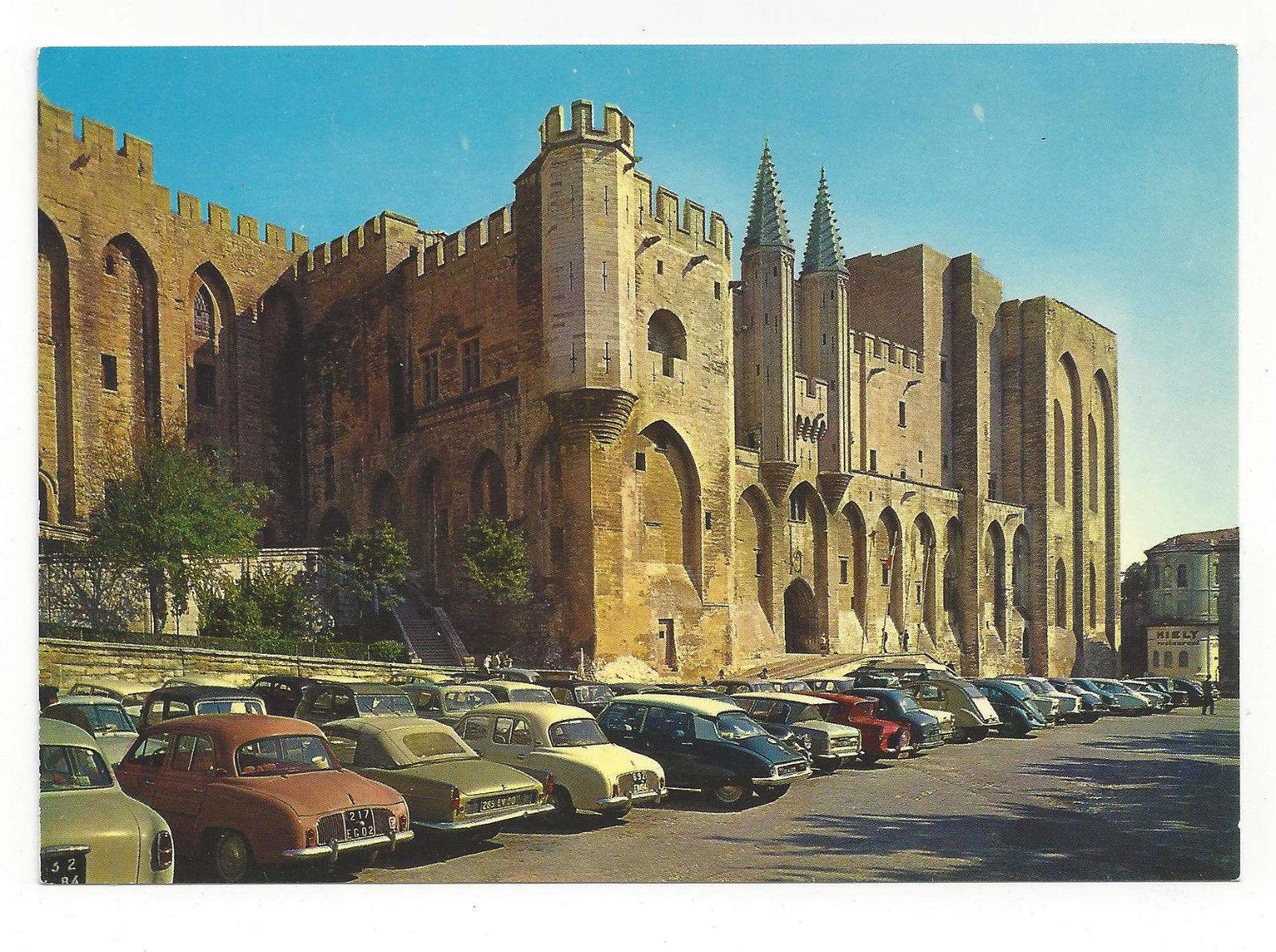France Avignon Palace Palais des Popes Entrance Vtg Postcard 4X6
