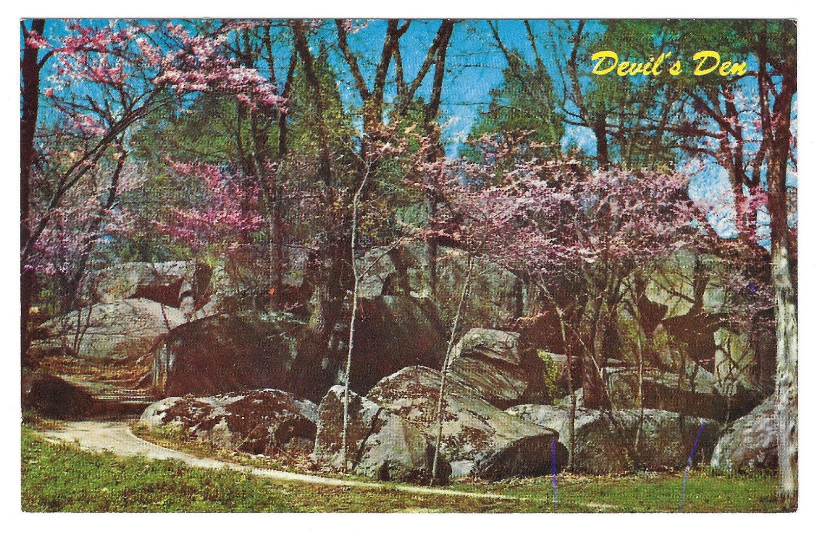 Gettysburg Civil War Devil's Den Vtg L.E. Smith Postcard PA Mike Roberts