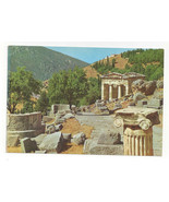 Greece Delphi Stoa of the Athenians Ancient Ruins Ionic Capital Vtg Post... - $6.36