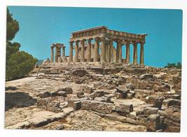 Greece Aegina Temple of Afaias Aphea Aphaea Ancient Ruins Vtg Postcard 4X6 - $6.64
