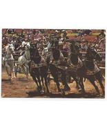 Great Adventure Jackson NJ Roman Chariot Race 1974 Vintage Postcard 4x6 - $9.44