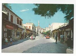 Greece Rhodes Rhodos Old City Street View Vintage Postcard 4X6 - $6.64