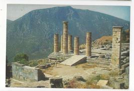 Greece Delphi Temple of Apollo Ancient Ruins Architecture Vtg Postcard 4X6 - $4.74