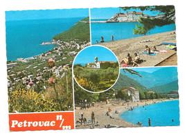 Montenegro Petrovac N/M Multiview Vtg Postcard 4X6 - $4.74