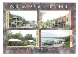 Natchez Mississippi Under the Hill Multi View Vtg Postcard 4X6 MS - $6.36