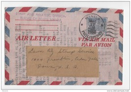 Philippines 1950 Air Letter Aerogramme to US Philatelic Press Release - $4.99