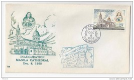Philippines FDC 1958 Manila Cathedral First Day Cover Sc 646 - $4.74