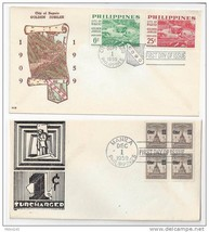 Philippines FDC 1959 1c surcharge & City of Baguio (2) First Day Covers - $4.74