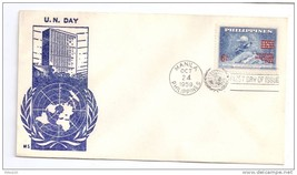 Philippines FDC 1959 SC# 806 UN Day Surcharge Ovprt Cachet Cover - $4.74