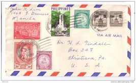 Philippines Cover 1959 University of Philippines Cancel Multi Franked to US - $7.40