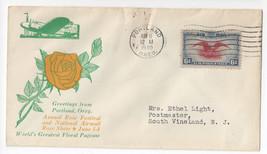 Portland OR Rose Festival Airmail Show 1940 Cachet Cover Sc# C23 - $8.54
