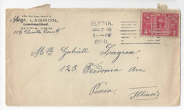 Q2 1913 Commercial Cover Parcel Post Elyria Ohio Machine Cancel - $9.44
