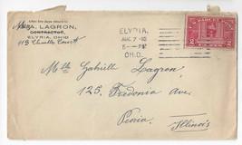 Q2 1913 Commercial Cover Parcel Post Elyria Ohio Machine Cancel - $9.44