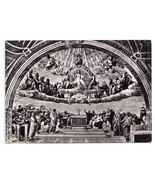 RPPC Vatican Museum Rome Raffaello Raphael Dispute Sacrament 4X6 Real Photo - $8.54