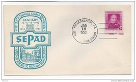 SEPAD 1953 15th National Stamp Exhibition Philadelphia PA Sc# 988 Gompers - $4.50
