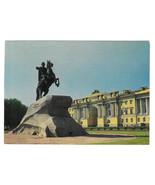 Russia St Petersburg Bronze Horseman Monument Vtg Prepaid Postcard USSR ... - $6.36