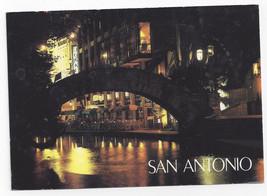 San Antonio TX The Riverwalk at Night Paseo del Rio 1992 Postcard 4X6 - $4.74
