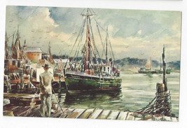 Seascape Watercolor James Murray Marine Artist Vintage 1970 Postcard - $4.74
