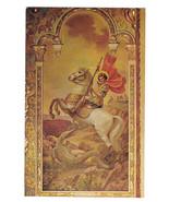 St George Dragon Icon Saint Sophia Cathedral Los Angeles CA Vtg Postcard - $6.64