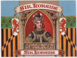 Sir Loraine Embossed Cigar Box label Knight Inn... - $28.45