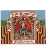 Sir Loraine Embossed Cigar Box label Knight Inner 1911 Julius Bien - $28.45