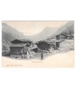 Switzerland Klosters Alphutten Swiss Alps Mountain Huts Cabins Vtg UDB P... - $4.74