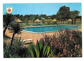 Spain Cadiz Jerez de la Frontera Hotel Swimming Pool Garden Vtg Postcard... - $6.36