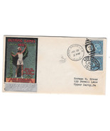 US 1932 Olympic Village Cachet Summer Opening Day Cover Sc 719 Pair - £36.81 GBP