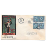 US 1932 Summer Olympics Los Angeles First Day Cover 5c Sc 719 Blk of 4 FDC - $22.80