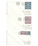 US 1932 Summer Olympics Los Angeles Sc 718 719 set 3 Covers June 20 Airmail - $12.50
