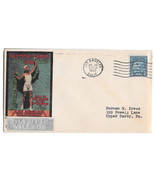 US 1932 Summer Olympics Opening Day Cover Olympic Village Cachet Sc 719 5c - $380,59 MXN