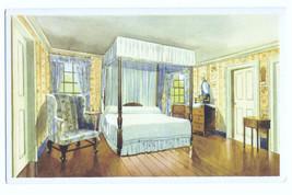 VA Mount Vernon General Washingtons Bed Chamber Vtg MVLA 1934 Postcard V... - $6.36