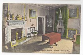 VA Mount Vernon Family Dining Room Foster & Reynolds Vintage Postcard - $4.74