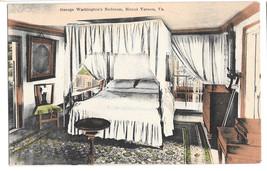 VA Mount Vernon George Washingtons Bedroom Vtg Foster & Reynolds Postcard - $6.64